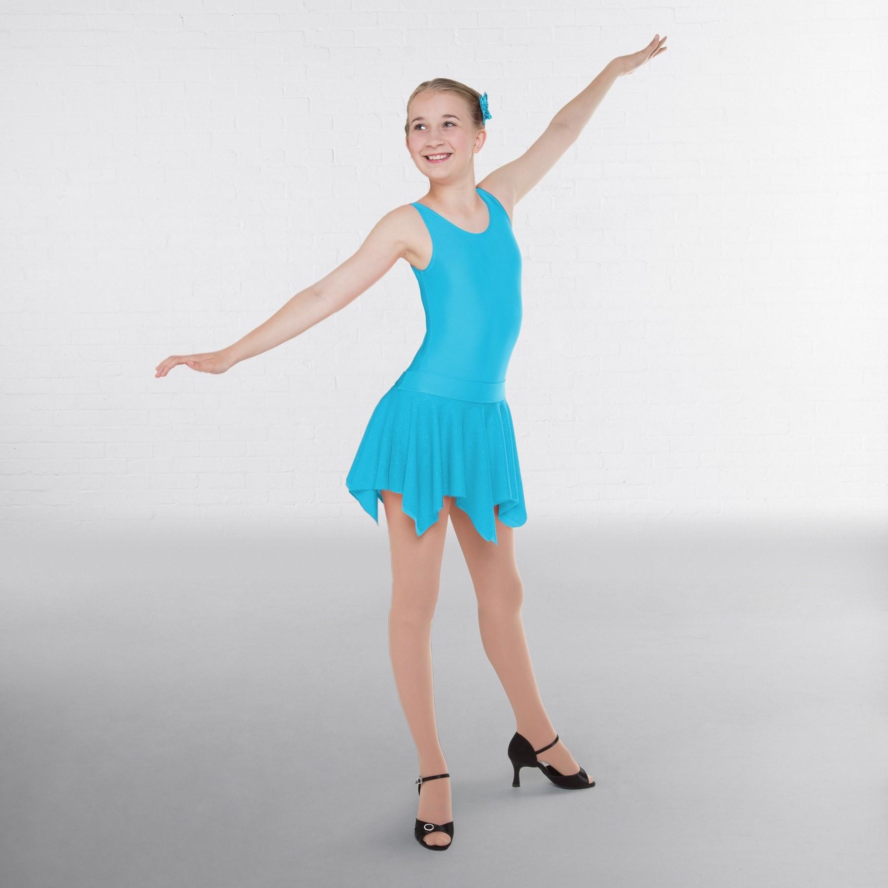 1st Position Practice Ballroom Skirt (Aqua)
