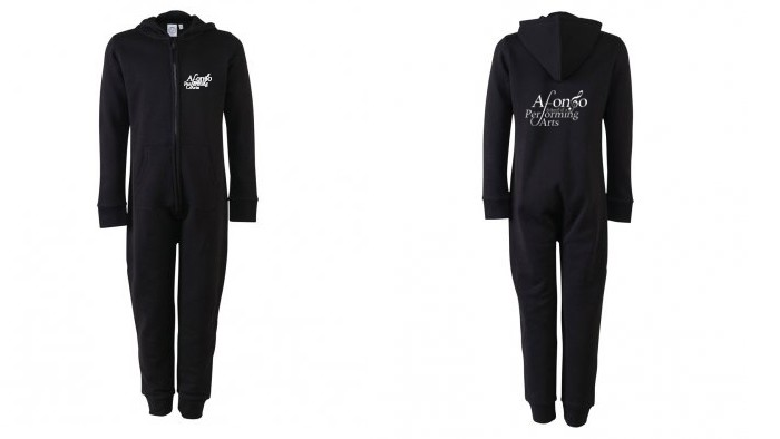 SF Minni Kids All In One (Navy Blue) with Afonso School of Performing Arts Logo