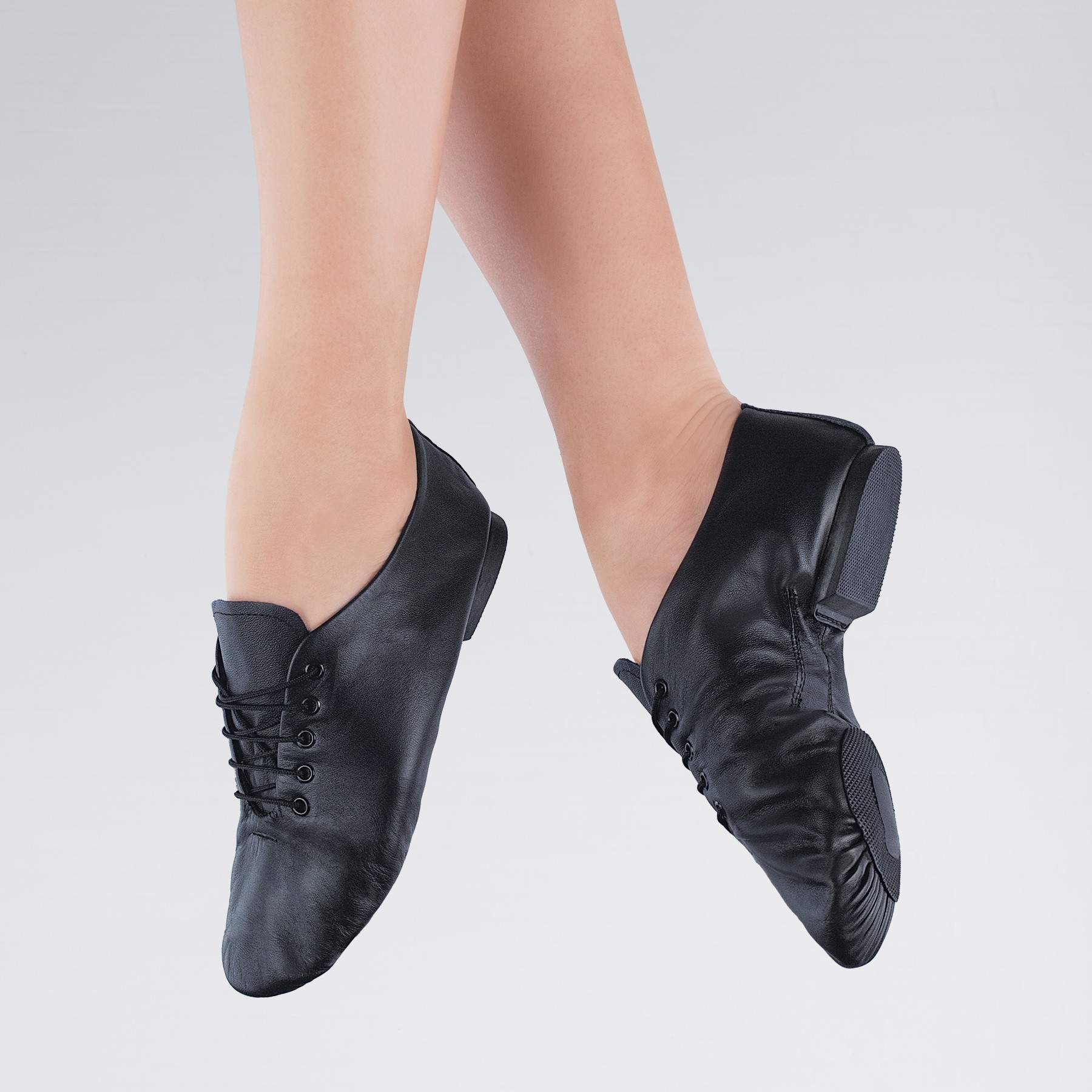 1st Position Split Sole Jazz Shoes (Black)