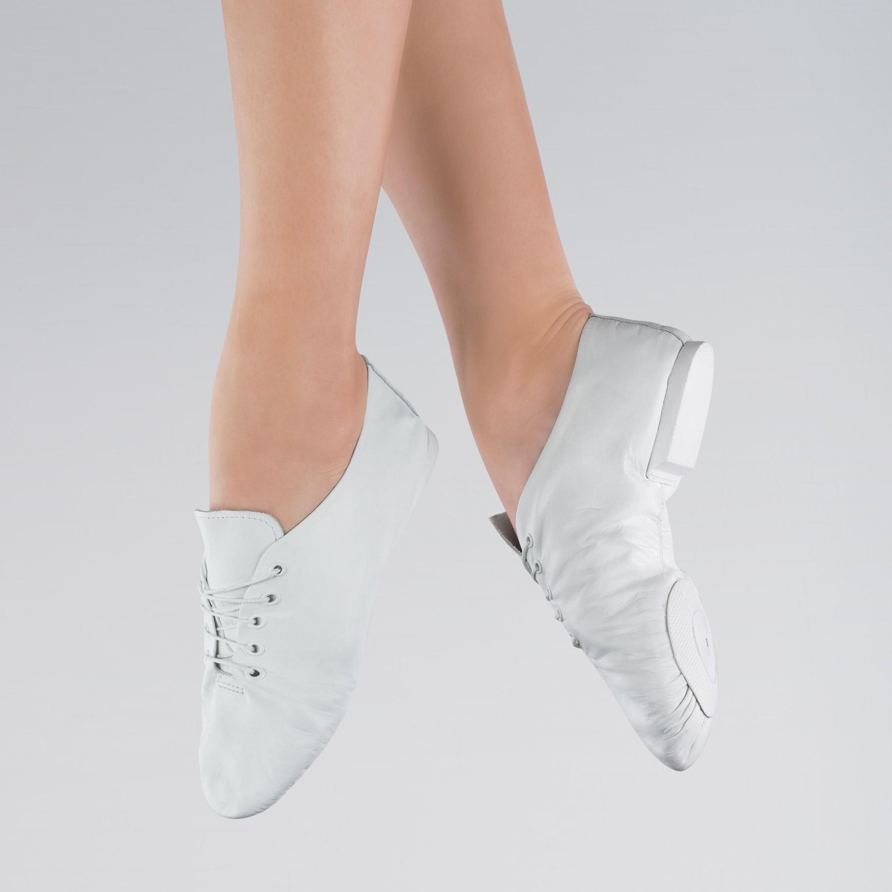 1st Position Split Sole Jazz Shoes (White)