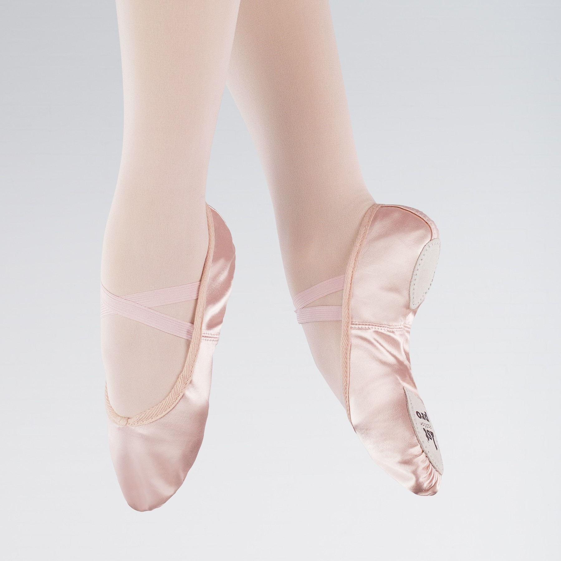 45e9a040a682 1st Position Pink Satin Split Sole Ballet Shoes