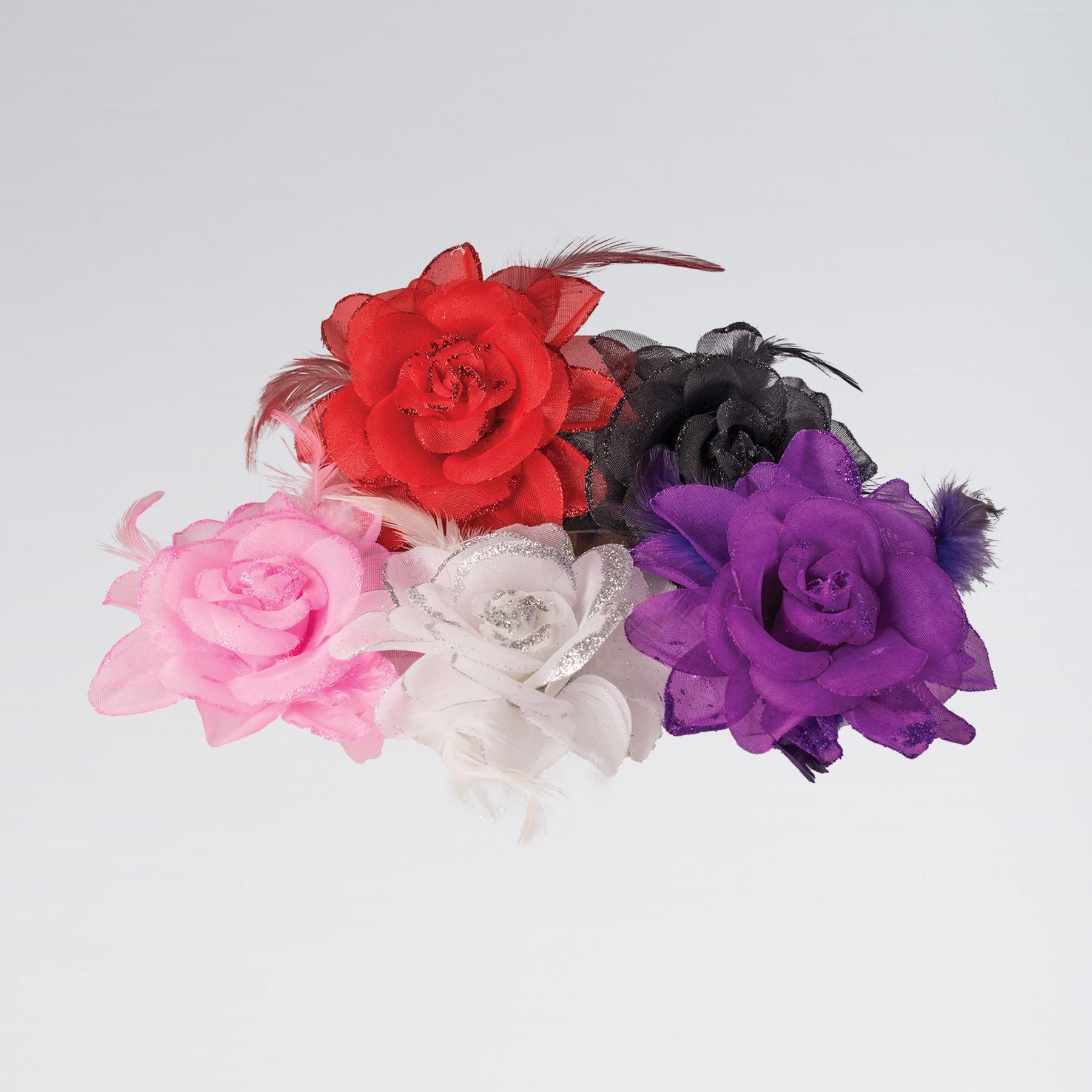 Rose On Elastic Black