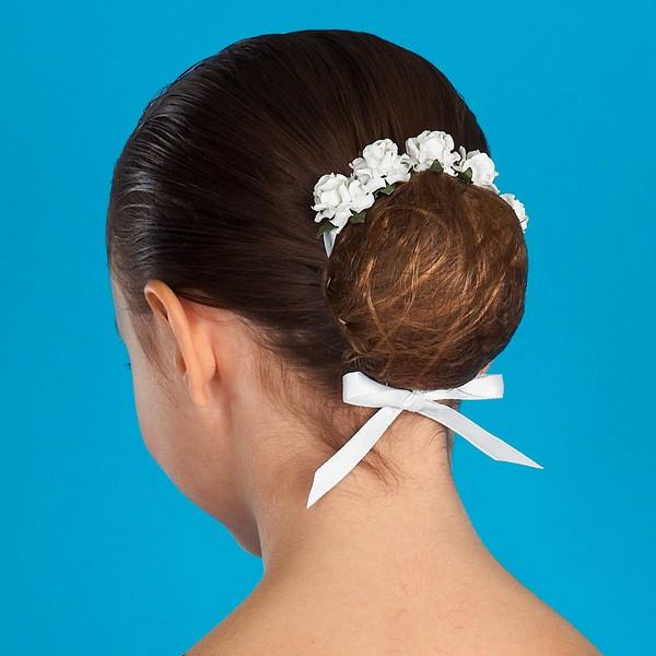 Floral Hair Blossom - White