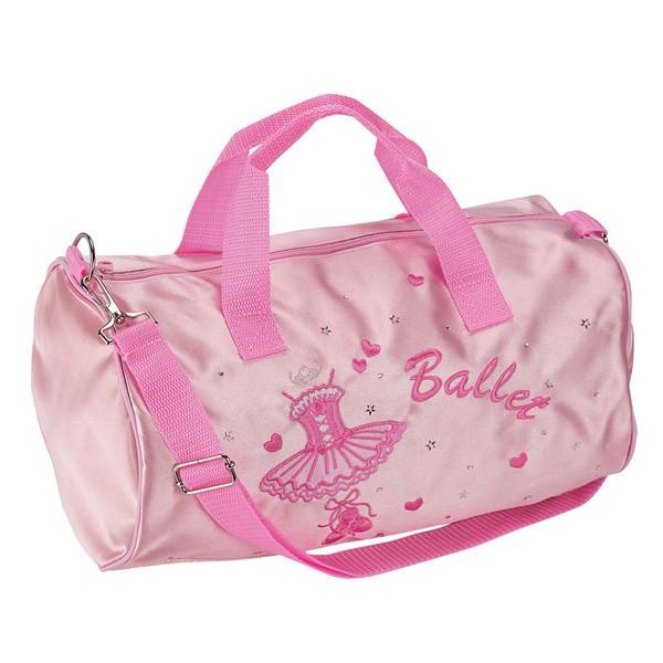 Katz Pink Satin Ballet Duffle Bag