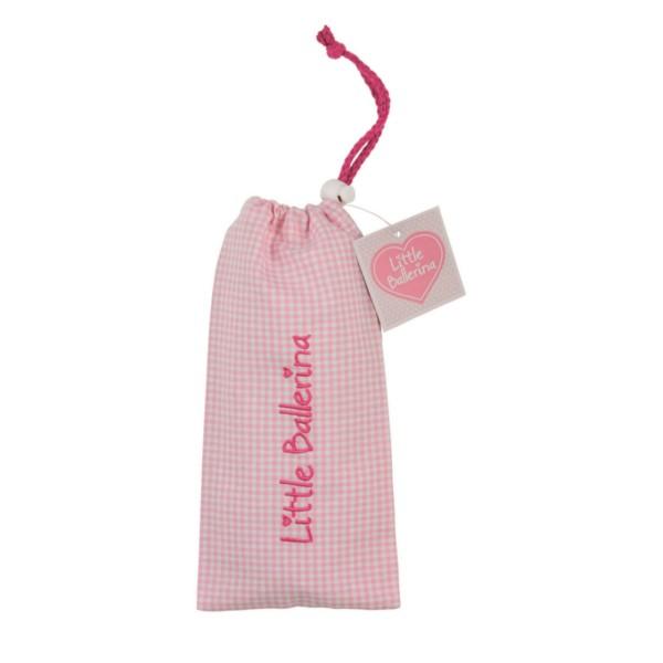 Little Ballerina Small Gingham Shoe Bag Pink
