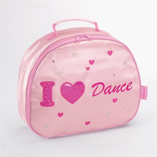 Katz I Heart Dance Satin Oval Vanity Case