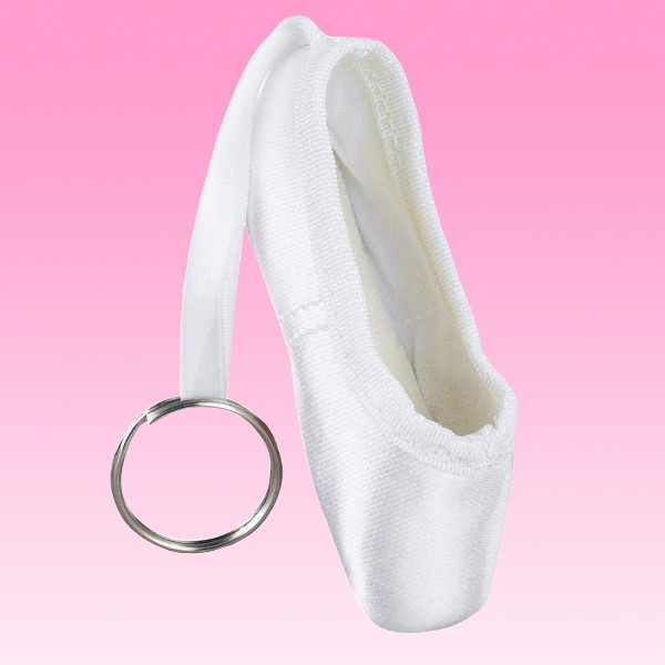 White Pointe Shoe Keyring