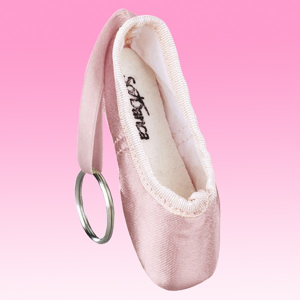 Pink Pointe Shoe Keyring