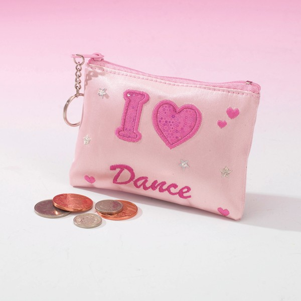 Katz I Heart Dance Coin Purse