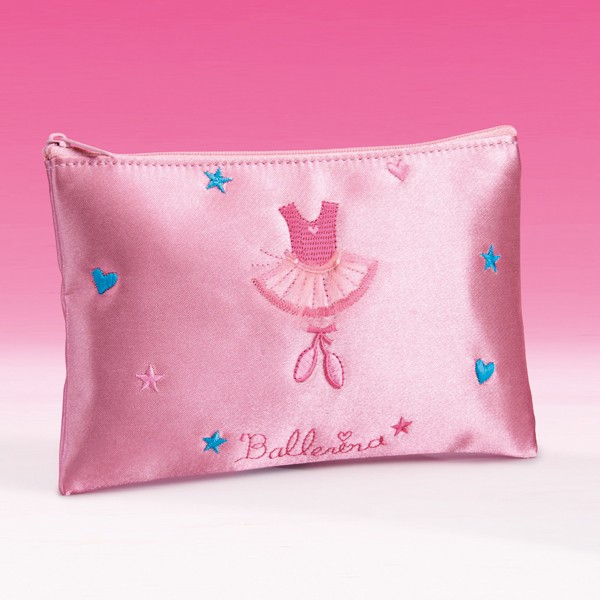 Katz Pink Satin Pencil Case