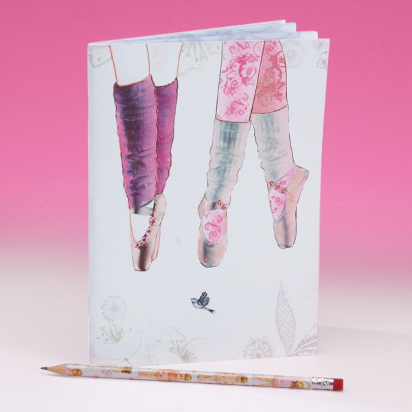 Pointe Shoe Design Soft Notebook