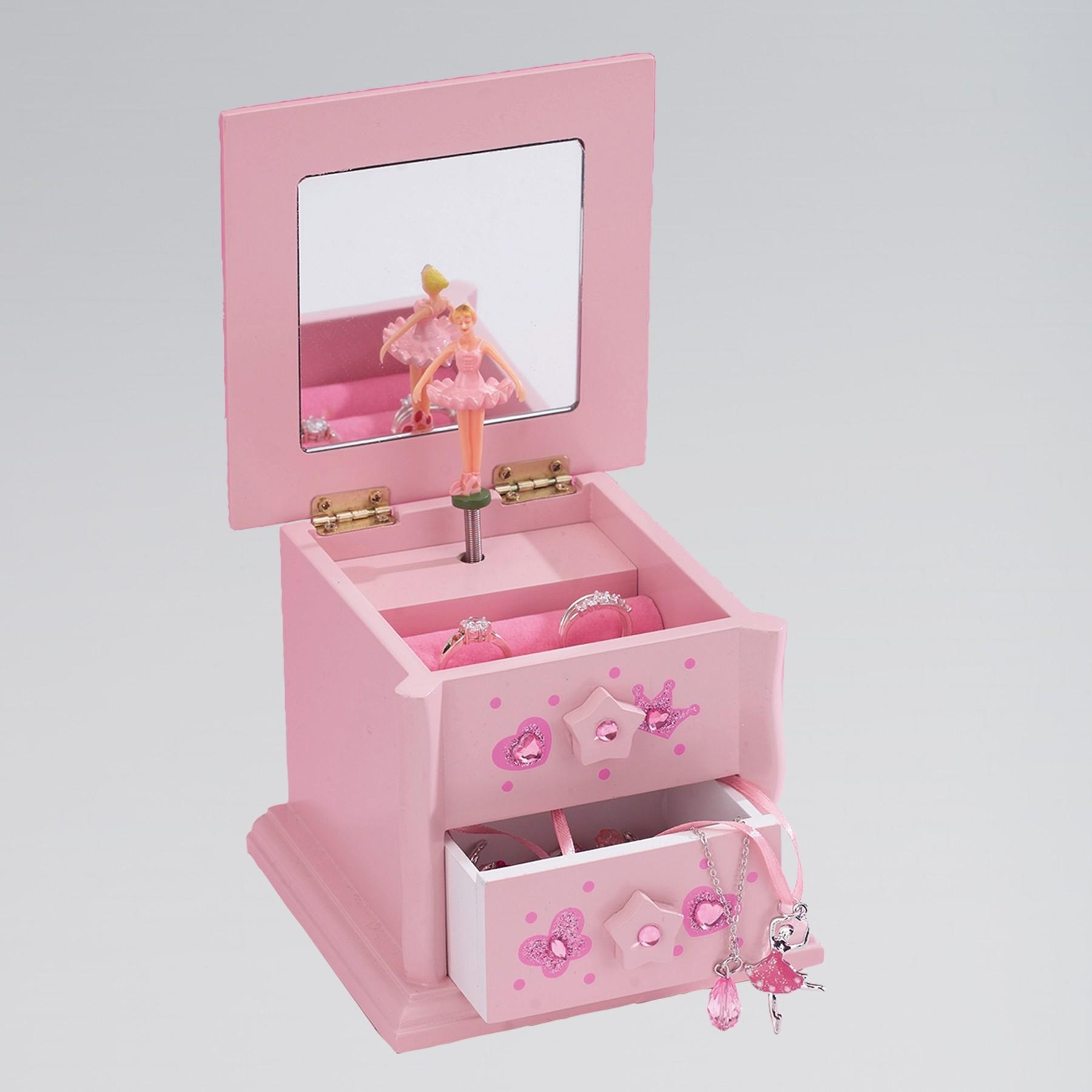 Katz Small Wooden 2 Drawer Jewellery Box