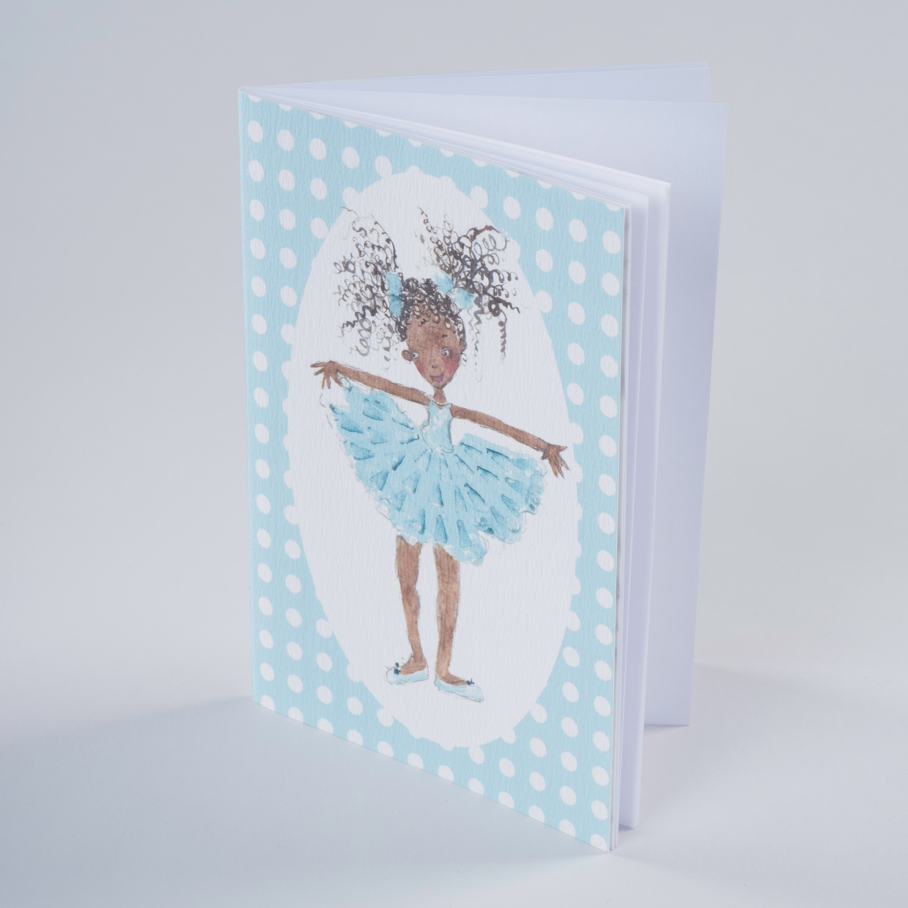 Sky Blue Dancer Notebook A6