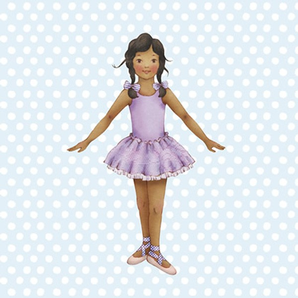 Little Ballerina Blue spot Jasmine card