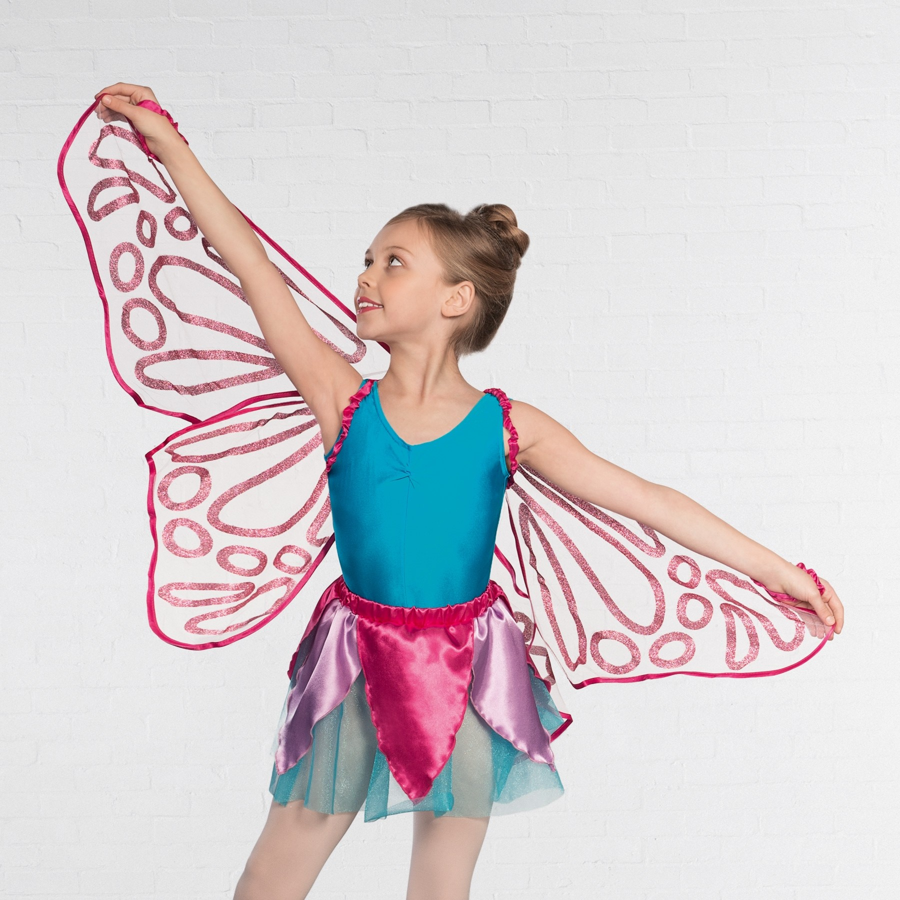 Floating Wings with Glitter Pink