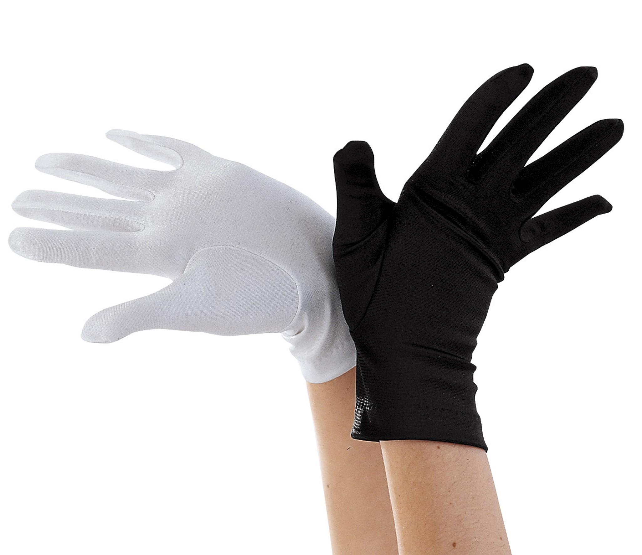 Black Short Gloves - Child