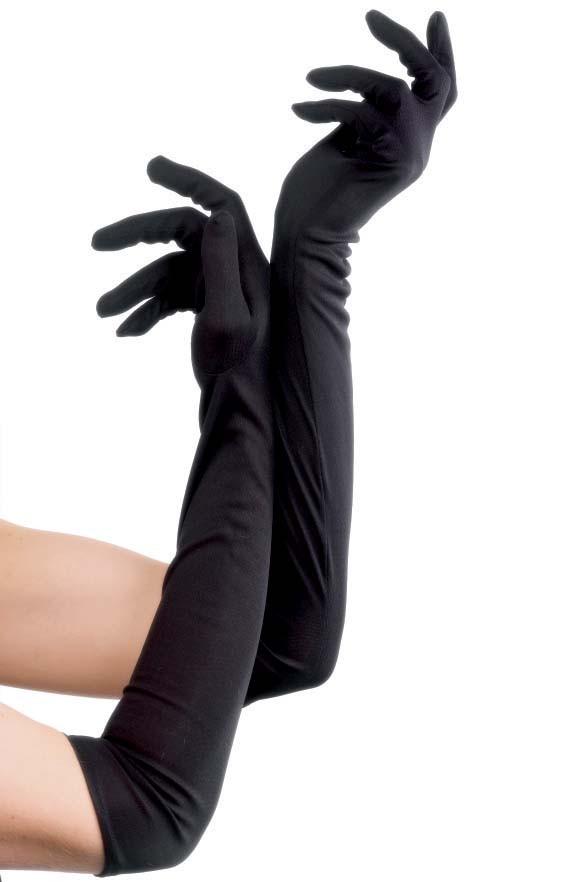 Elbow Length Gloves (Black)