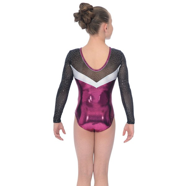 The Zone Ultra Round Neck Long Sleeve Leotard (Pink)