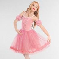 1st Position Costume Danza Classica in Pizzo con Gonna Glitterata