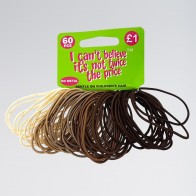 60 Mixed Brown/Blonde Hair Elastics