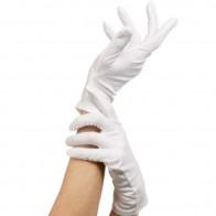 Kurze, weiße Handschuhe - Kinder