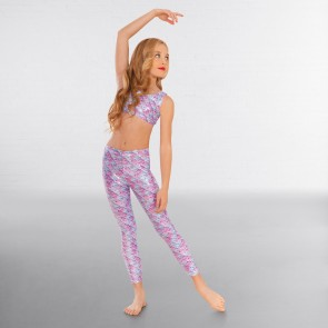 1st Position Leggings con Estampado Escala de Sirenas