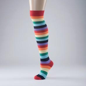 Multi Stripe Long Socks - Adult One Size