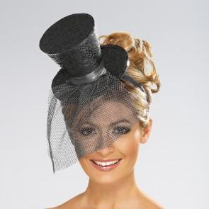 Sombrerito de copa con brillantina