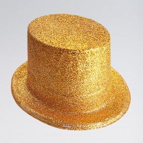 Sombrero de copa de plástico con brillantina