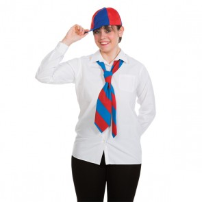 Schoolboy Tie Red & Blue