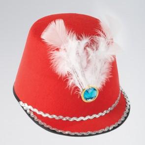Sombrero rojo de majorette
