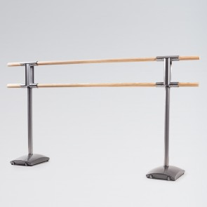 Dinamica Maurice Premium Free Standing Double Ballet Barre with Wheels