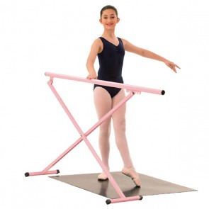 1st Position tragbare Ballettstange in Rosa