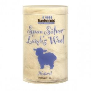 Bunheads Spun Silver Lambswool 1oz.