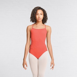 Mirella Applique Strap Back Cami Leotard