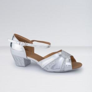 1st Position - Zapatos para Bailes de Salón de Poliuretano y Brillantina con Tacón Bajo