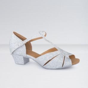 1st Position - Zapatos para Bailes de Salón de Poliuretano y Brillantina con Tira en T