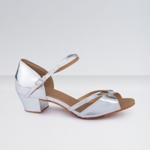 1st Position Low Heeled PU Double Buckle Ballroom Shoes