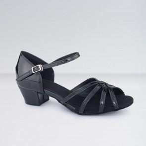 1st Position Chaussures de Danse de Salon en Cuir à Petit Talon