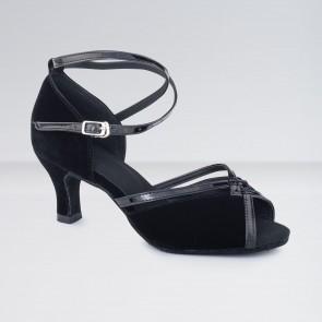 1st Position Nubuck Flared Heel Ballroom Shoes