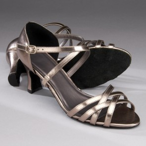 1st Position Ballroom/Latin Sandal - Metallic Pewter