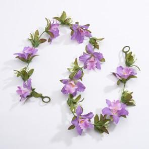 Artificial Flower Garland - Purple (1m approx)