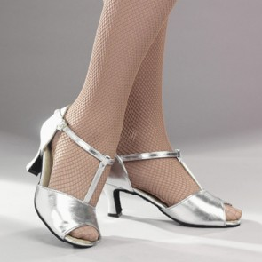 1st Position Silver Cabaret Shoes