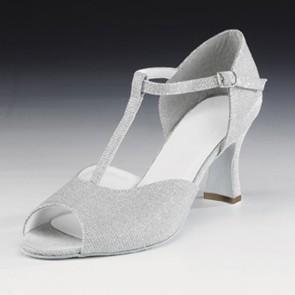 1st Position Silver Glitter Cabaret Shoes