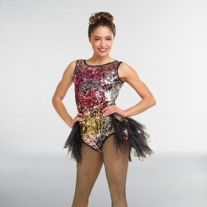 "Curtain Call ""Jagged Edge"" Costume Pailleté Multicolore"