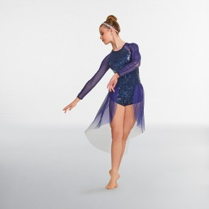 "Curtain Call ""Spacing Out"" Robe Lyrique Bleue Marine"