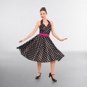 1st Position Polka Dot Rock n Roll Halterneck Dress