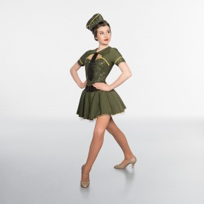 1st Position Sequinned Military Costume with Hat