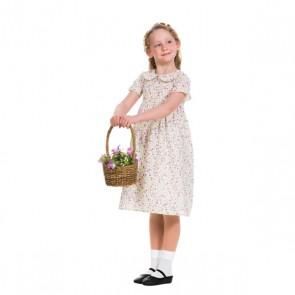 Short Sleeve Flowery Dress