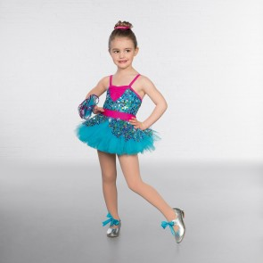 1st Position Tutu con Mini Paillettes Multicolore